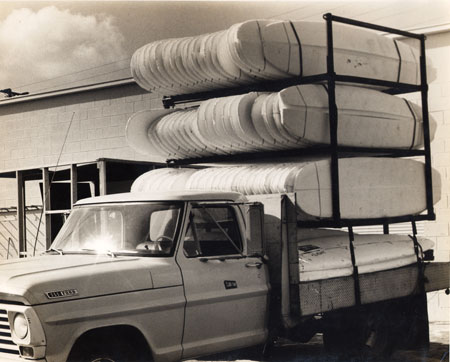 Clark Foam truck delivering blanks to G&S Sp;ring of 1969